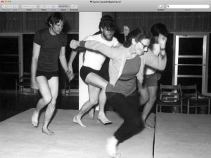 "Here she is, leading Ben Barney and other young dancers in ""The Walls Between"" -- fifty years ago."