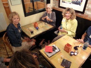 """Members of the first book club reading """"The Other Mother: a rememoir"""""""