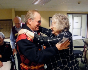 "Granny considers Gov. Kulongoski one of ""her kids"""