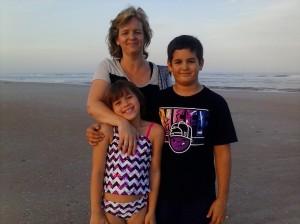 My wonderful sister Jenny, with Marina and Raiden